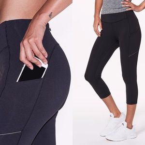 Lululemon Speed Up Crop Leggings with Side Pockets
